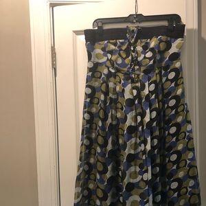 Tube top boutique multicolored midi dress